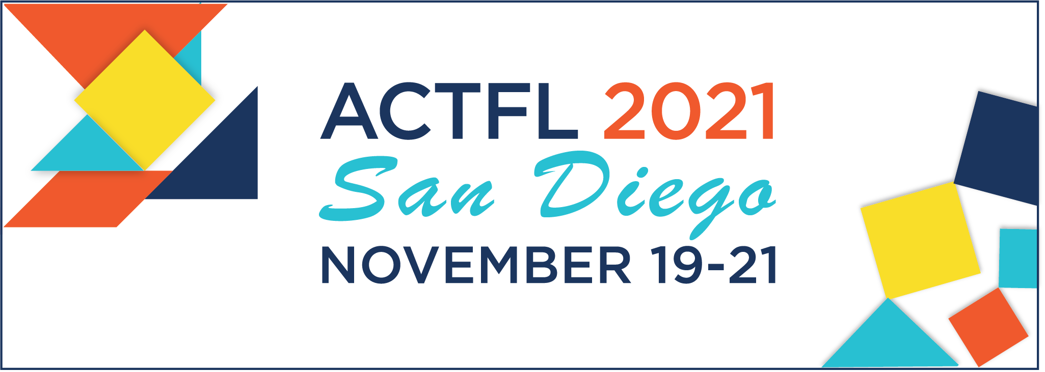 2021 ACTFL annual convention banner
